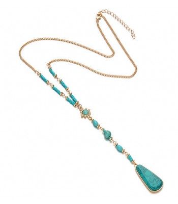 Ethnic Stone Pendant Necklace