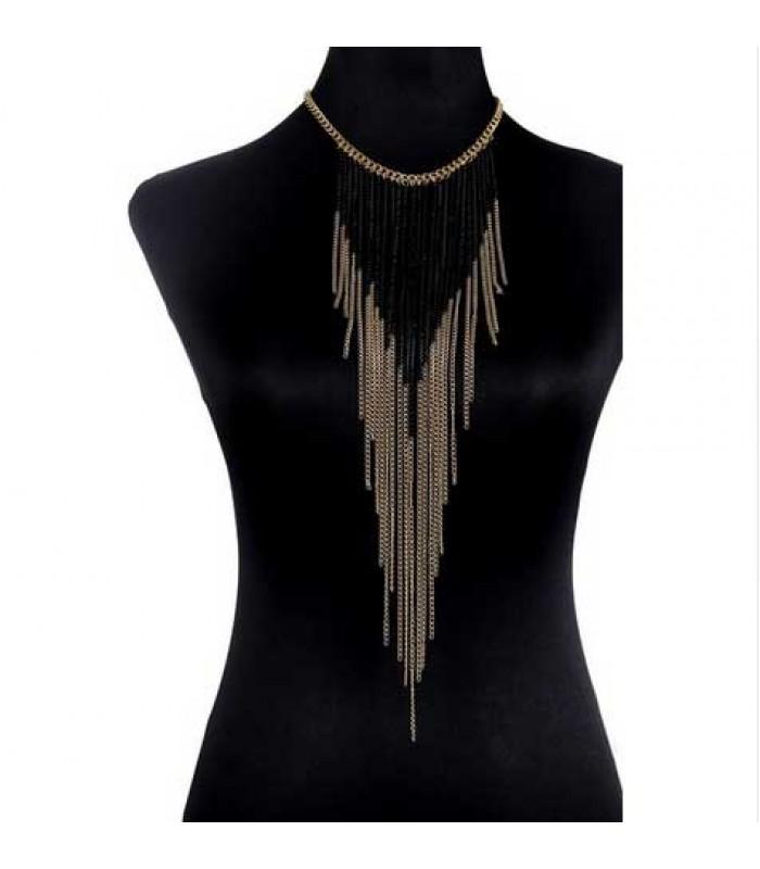 Long Chain Tassel Necklace for Women
