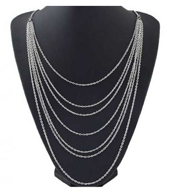 Multi Layer Long Chain Necklace for Women