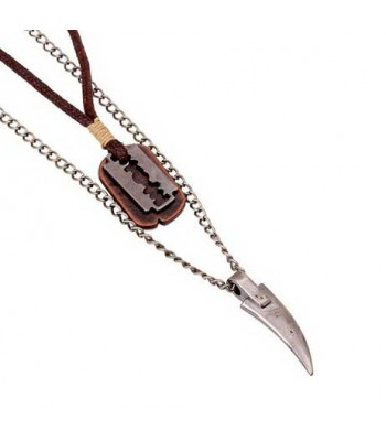 Razor Blade Necklace Pendant for Men