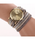 Grey Leather Wrap Stud Watch