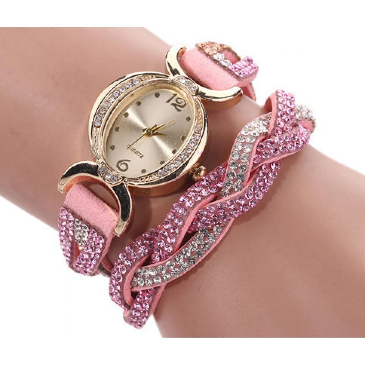 Rhinestone Wrap Watch From Category Watches Trendi