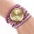 Purple Leather Wrap Stud Watch