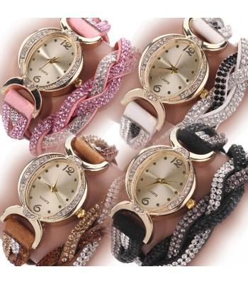 Rhinestone Wrap Watch