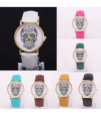 Skull - Leather Watch